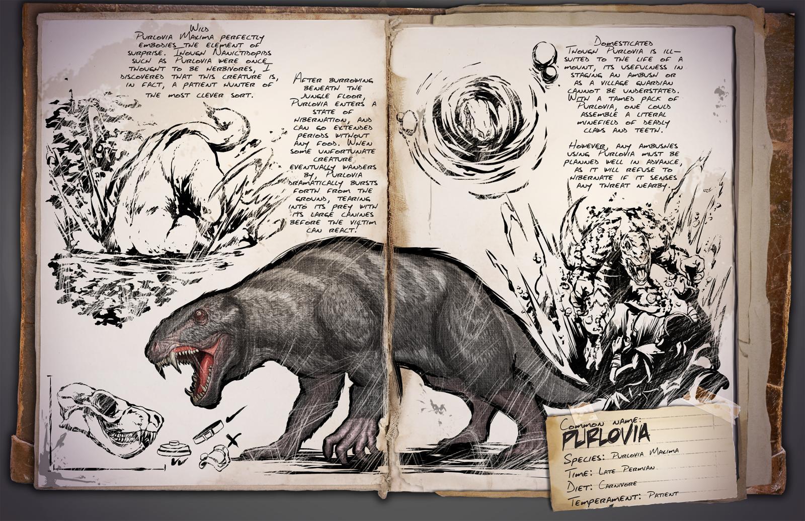 Ark survival evolved dossier purlovia der geduldige j ger - Liste des dinosaures carnivores ...
