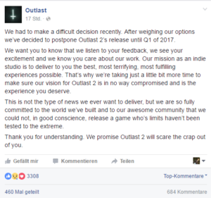 Outlast 2 - Release 2017
