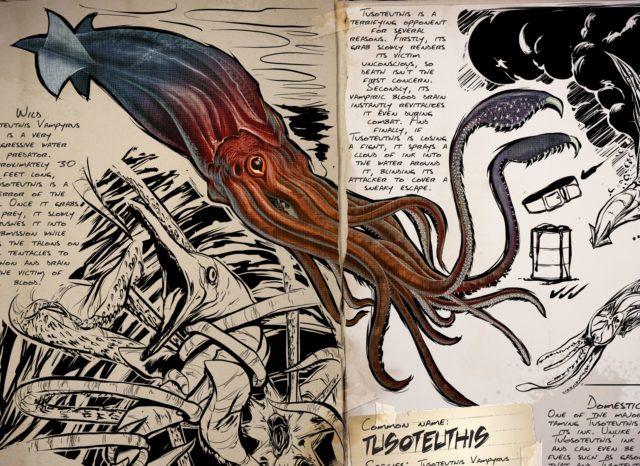 Ark: Survival Evolved Dossier – Tusoteuthis … der Schrecken der Meere!