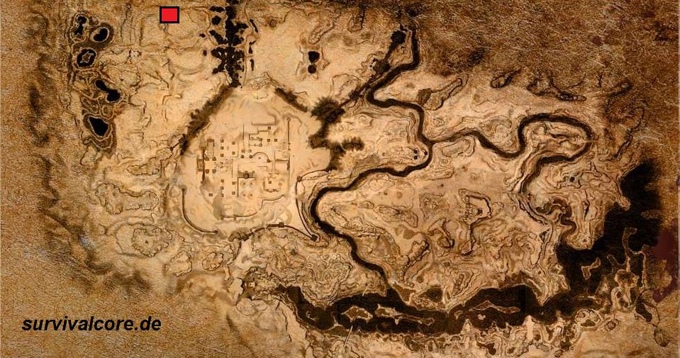 Fundort der Schwefelgrube in Conan Exiles