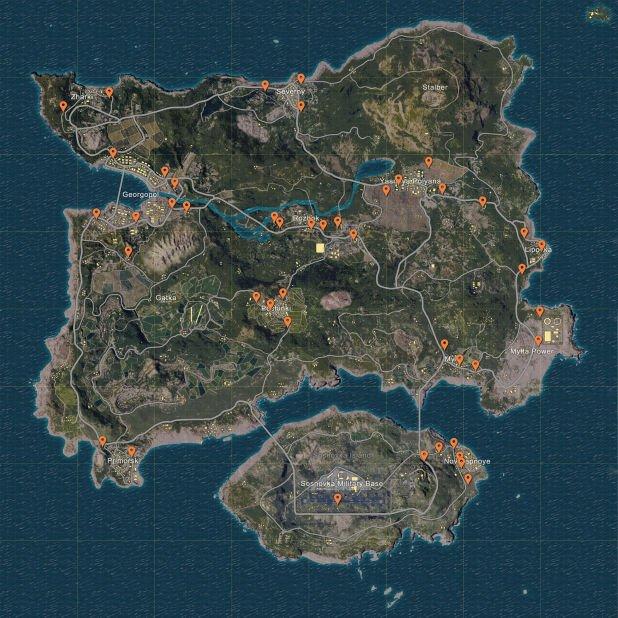 Miscreated Karte.Playerunknowns Battleground Spawn Punkte Der Fahrzeuge Auf