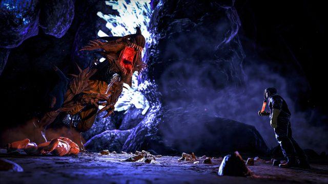 Kletterausrüstung Xbox One : Ark: aberrations neues bewegungssystem in der unterirdischen finsternis
