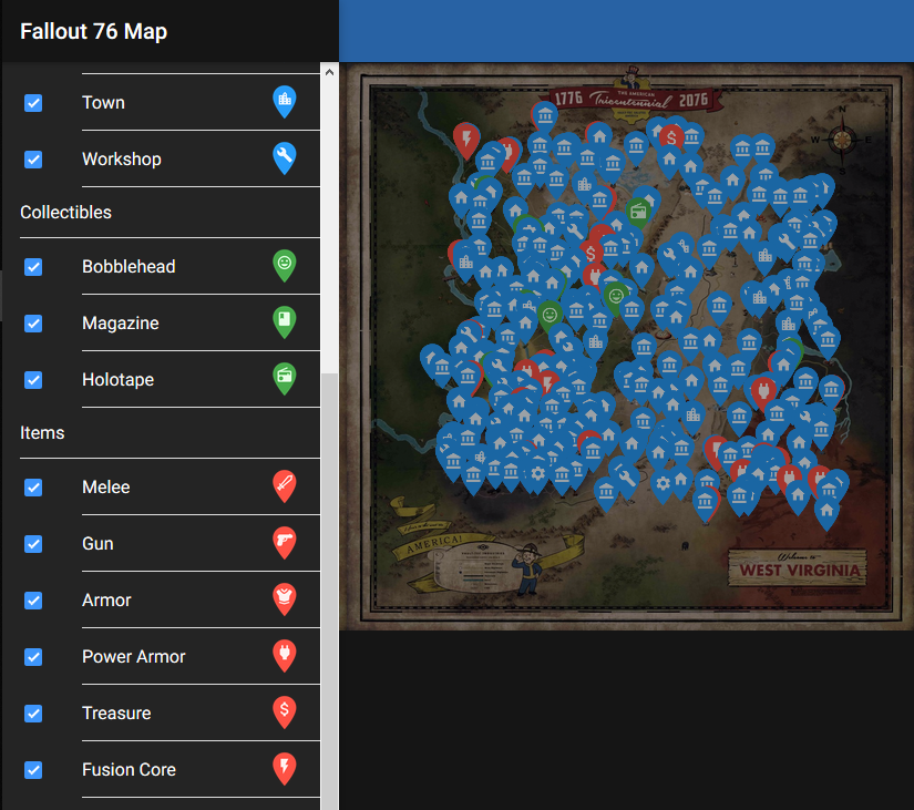 Fallout 76 Karte Deutsch.Fallout 76 Die Interaktive Karte Zu Appalachia