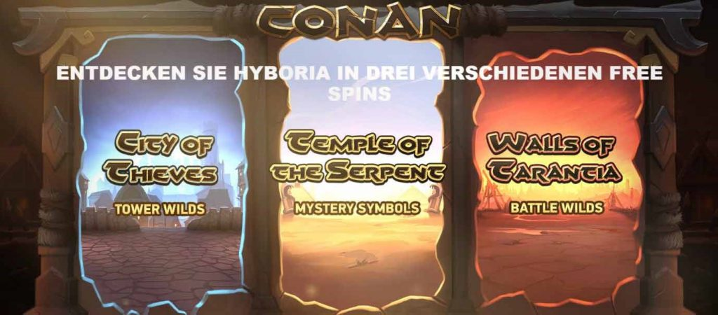 Conan Free Spins Feature